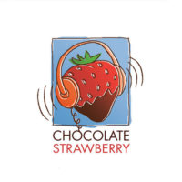 chocolate strawberry logo design