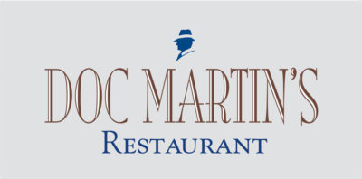 logo design for Doc Martins Restaurant, Taos New Mexico