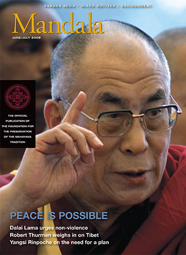 Mandale Magazine Cover Design with Dali Lama by Cowgirls Design