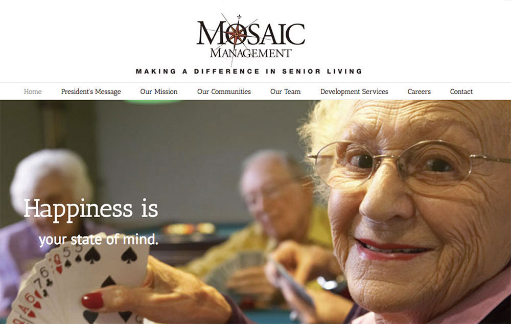 website design fro Mosiac Management