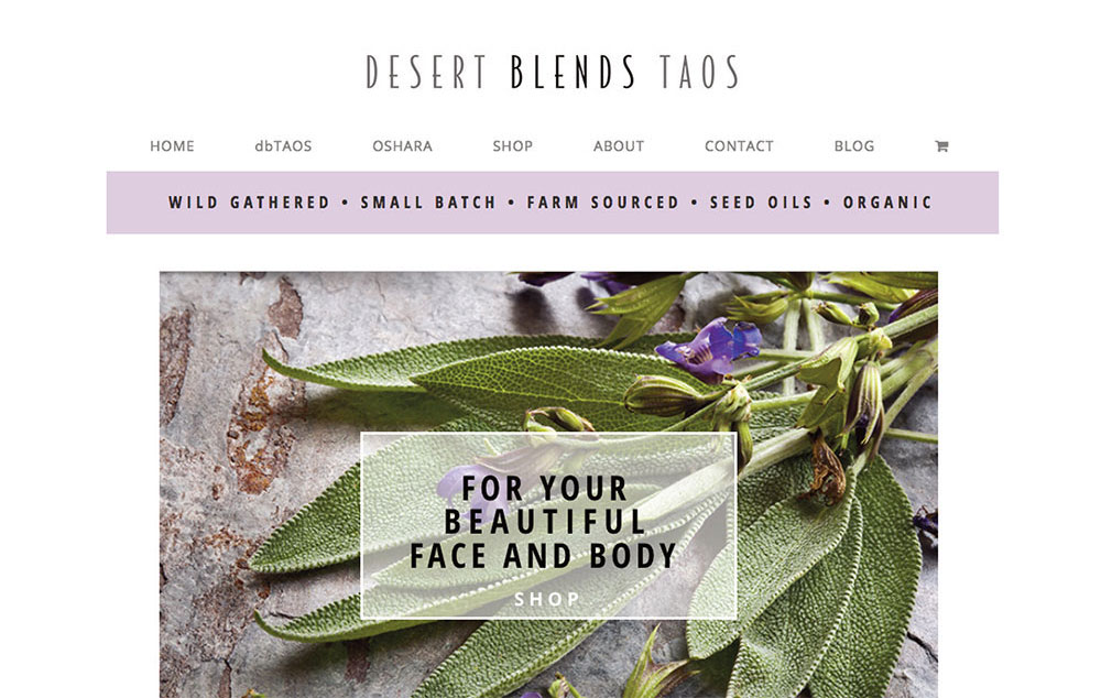 desert blends web site design