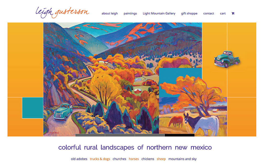 website design for Taos Artist Leigh Gusterson