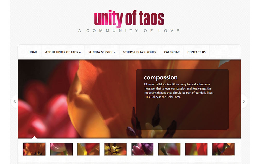 web site design for Unity Church